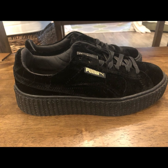 wholesale dealer 427ba 73070 PUMA Suede Platform Trace Women's Shoes (Black)